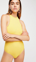 NEW Free People Intimately Feels Right Bodysuit Top Yellow Sz XS/S -M/L $52.54