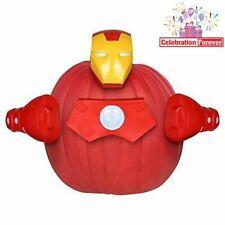 Iron Man Marvel Avengers Halloween Pumpkin Decorating Kit Push In No Carve NEW