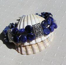"Lapis Lazuli Gemstone Crystal Bracelet ""Blue Velvet"""