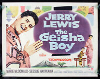 THE GEISHA BOY * CineMasterpieces ORIGINAL MOVIE POSTER 1958 JERRY LEWIS