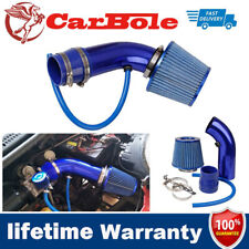 "Air Intake Kit Blue Pipe Diameter 3"" +Cold Air Intake Filter Clamp Accessories"
