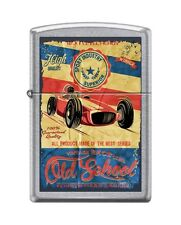 Zippo 207 OLD SCHOOL RACING fourth gear racers vintage poster RARE Lighter