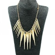 Fashion Gift Accessories Gold Plated Spike Jewelry Necklace Pendant Women's