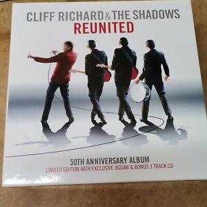 Cliff Richard & The Shadows Reunited 50th Anniversary 3 CD Box Set and Vinyl