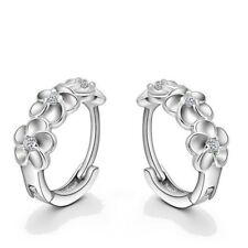 Top Sale 925 Sterling Silver Earring Woven Flowers Shape Hoop Earrings