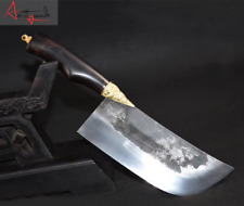 Manganese steel forged household Chinese sliced kitchen knife chef chopping