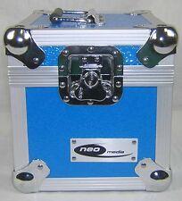 "7"" Singles Blue Vinyl Record Aluminium DJ Flight Carry Case 100 Storage Box Best"