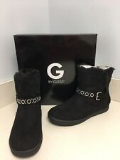 Guess GG Pint Black Lined Boots Size 8M