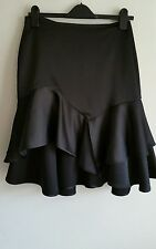 ZARA FRILLED MIDI SKIRT, SIZE UK L / EUR L / USA L