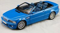 Kyosho 1:18 2000 BMW M3 E46 Cabrio Convertible Laguna Seca Matt Blue Car Toy
