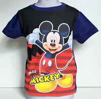 Mickey Mouse Kinder Jungen T-shirt Gr. 92-110   Sommershirt kurzarm  Disney
