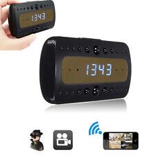 Reloj Despertador Cámara Oculta Espía Wifi IP Full HD 1080P Sensor de movimiento