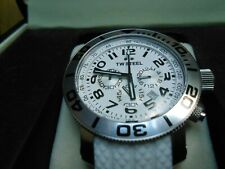 Mint TW Steel Watch Grandeur Diver Chronograph White Rubber Band -TW-TW94