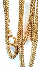 Rare Collector's Vintage Chanel Gold Tone Curb Magnifying Glass Chain Necklace