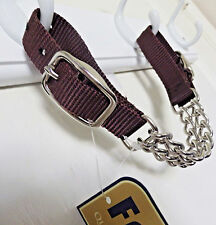 nylon double chain horse curb strap formay 108991br,western tack