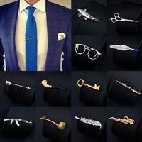 Men Metal Tie Clip Bar Necktie Pin Clasp Clamp Wedding Charm Creative Gift Fancy
