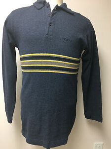 VERSACE JEANS COUTURE MADE IN ITALY MEN'S NEW POLO SWEATER SIZE M