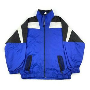 VTG Shell Suit Jacket Festival Tracksuit Top Nylon Windbreaker 80s/90s Medium