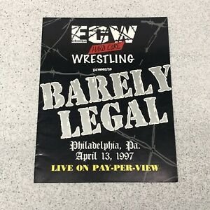 RARE ECW WRESTLING PROGRAM BARELY LEGAL 1997 Heyman Taz Sabu Funk Raven Dudleys