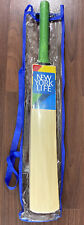 New York Life Promo South Asia Willow Wood 34 in. Cricket Bat Paddle Handle New