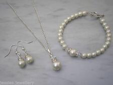 Collane e pendagli di bigiotteria in argento perle di vetro