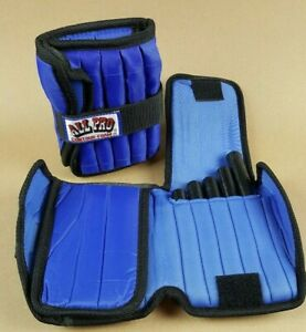 All Pro Ankle Weights 10 Lb Pair Style #400 Weight Set Adjustable EUC