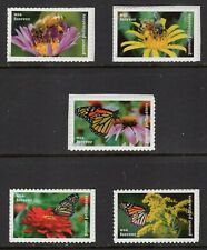 US 2017 5228-32 POLLINATORS Bees Butterfly Singles from Strip VF NH-FreeShip USA