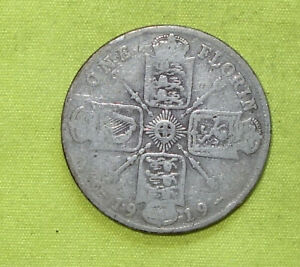 1919 UK Silver FLORIN coin George V (1910 - 1936) Combine Postage