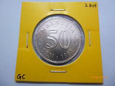 Malaysia 50 Sen 2 Dots 1988 - BU