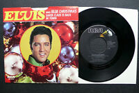 """7"""" Elvis Presley - Blue Christmas/ Santa Claus Is Back In Town - USA RCA w/ Pic"""