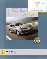 Prospekt / Brochure Renault Clio 02/2006