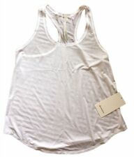 NWT LULULEMON ALL LOVE TANK size 4 White Relaxed Fit Racerback Gym Run Yoga Fun
