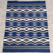 Blue navajo rugs Navajo Indian Auth Native American Indian Navajo Chinle Wool Rug Handwoven By Glorilene Harris Ebay Native American Indian Rugs In Navajo Rugs Textiles 1935now Ebay