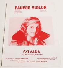 Partition sheet music SYLVANA : Pauvre Violon * 70's