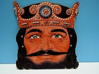 VINTAGE 1940-50's HALLOWEEN KING ARTHUR  CARDBOARD CEREAL BOX CUT-OUT MASK