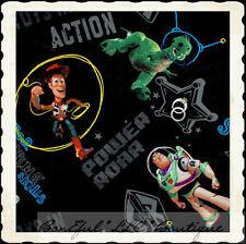 BonEful Fabric FQ Cotton Quilt Disney Toy Story Dinosaur Dino Woody Buzz Cowboy