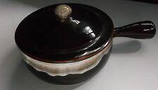 Vintage Pfaltzgraff ONE QUART CASSEROLE DISH Brown Drip Glaze w Lid & Handle