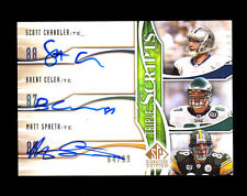2009 SP Signature Brent Celek/Matt Spaeth/Scott Chandler Triple Auto RC 64/99