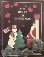 Heart of Christmas By Donna Farley Holiday Santas Angels Tole Painting Book RARE