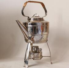 Antique Chrome Plated Jugendstil Art Deco Teapot w/Warmer by WMF c.1930s