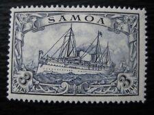 SAMOA GERMAN COLONY Mi. #18 mint Kaiser Yacht stamp!