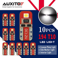AUXITO CANBUS T10 168 194 Interior Map Dome Number Plate LED Light Bulb 10PCS