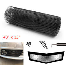 "40"" x 13""  Grille Net Mesh Black Aluminum For Car Vehicle Bumper Hood Radiator"