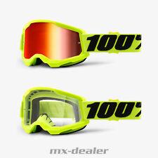 100 % Prozent Brille Strata2 Fluo Gelb Neon Motocross Enduro Downhill MTB