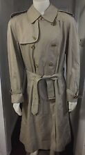 VTG! Burberry London Prorsum Trench Coat Rain Nova Check 54 Long Large England