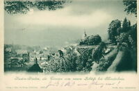 Ansichtskarte Baden-Baden Terrasse vom Schloß Mondschein 1898  (Nr.759)