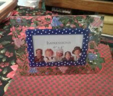 HAND PAINTED 10X8 GLASS PICTURE FRAME