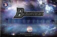 2016 Bowman Inception Baseball Hobby Box Sealed 5 autographs