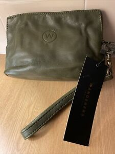 The Wanderers Travel Co - Small Milano Clutch NWT - Olive