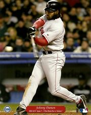 JOHNNY DAMON 8x10 Vintage Action Photo BOSTON RED SOX vs NY Yankees 2004 ALCS HR